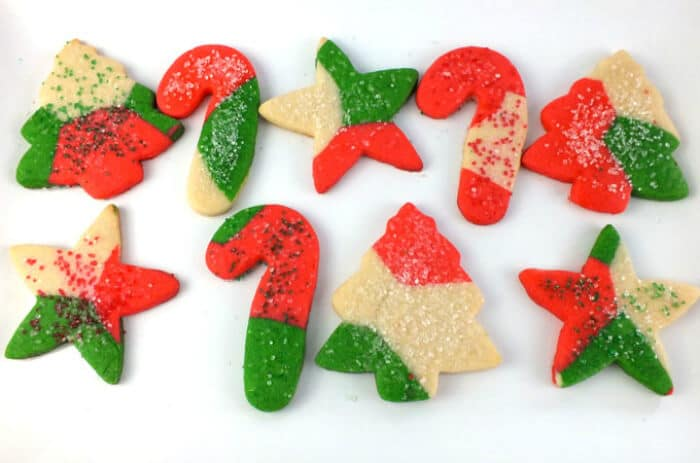 Marble Sugar Cookies - Two Sisters Crafting | 20+ Holiday Cookies | Christmas Cookie Recipes | www.madewithHAPPY.com