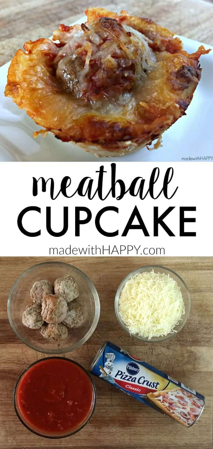 Meatball Cupcake | Quick and Easy Appetizers that are hearty and delicious| www.madewithHAPPY.com