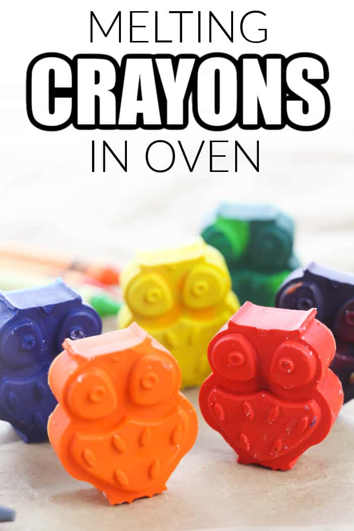MELTED CRAYONS IN OVEN