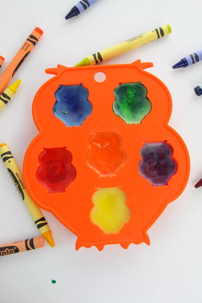 melted owl crayons