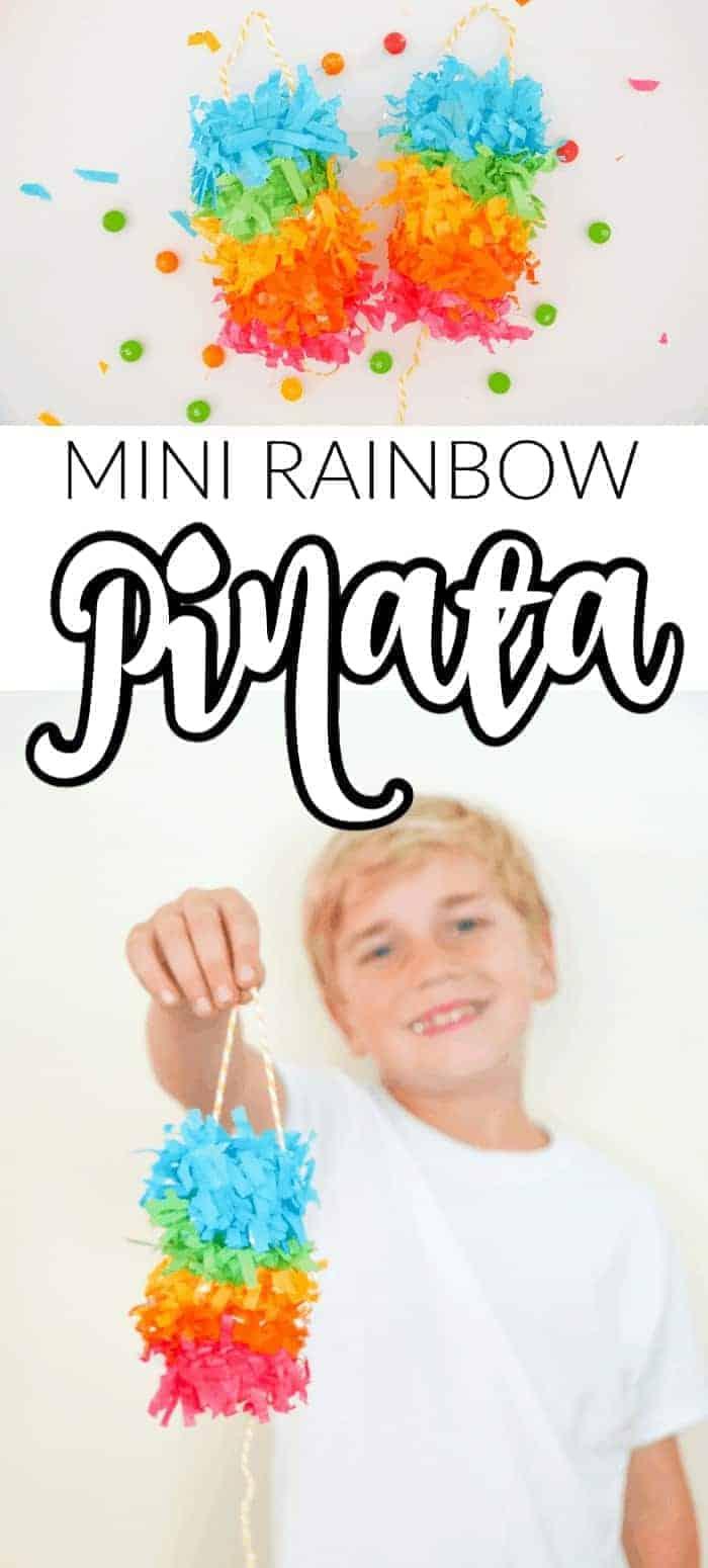 Mini Rainbow Pinata