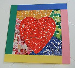 Heart Paper Mosaic