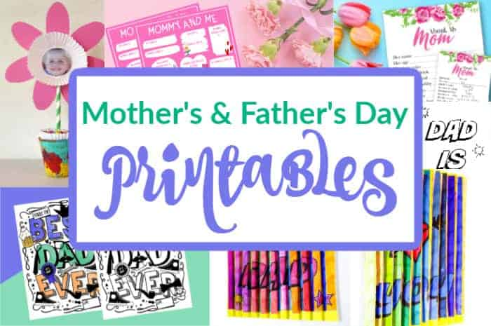 Mother's and Father's Day Printables