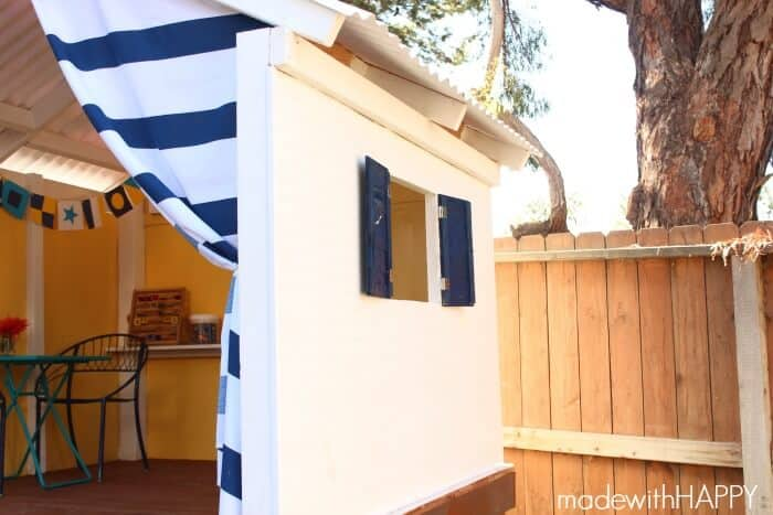 Treehouse | Playhouse | Kids Outdoor Play Area | www.madewithHAPPY.com