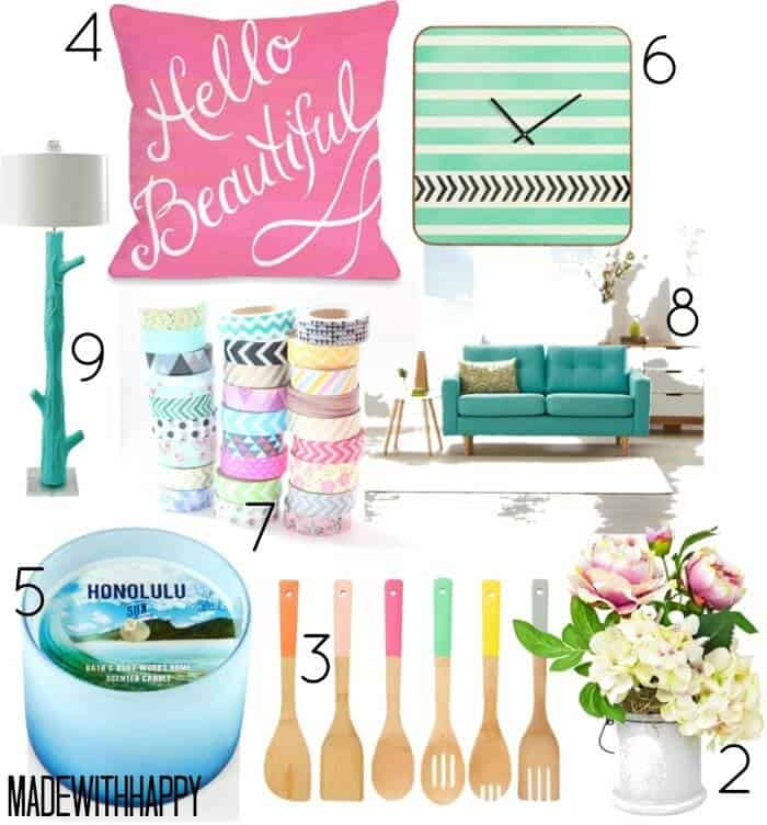 10 Ways to Update your Home for Spring   Spring-ify your home   Spring Updates   www.madewithHAPPY.com