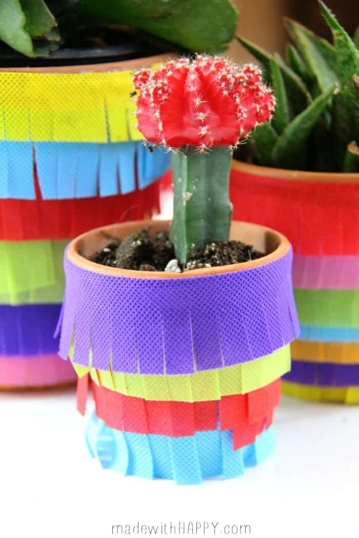 Piñata Planter | Cinco De Mayo Party Decoration | www.madewithHAPPY.com