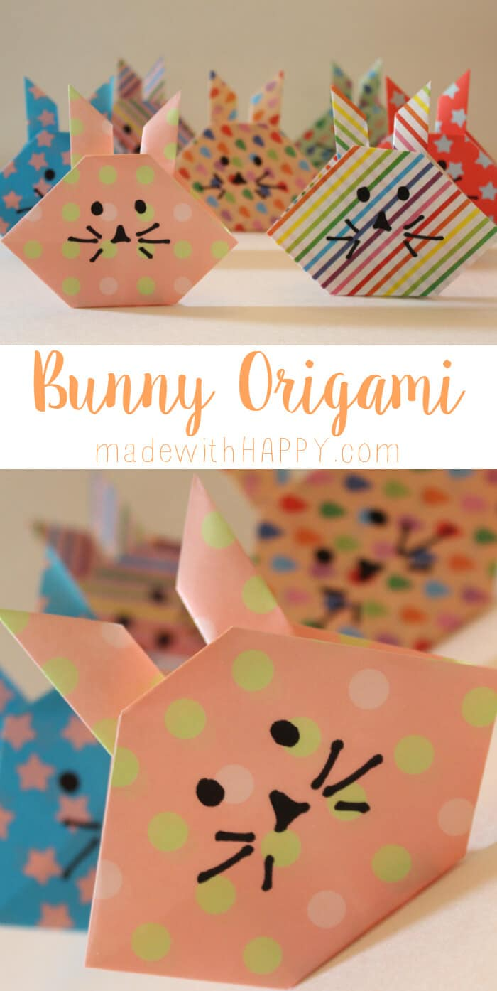 Bunny Origami - Easter Table Cards. Easter Origami