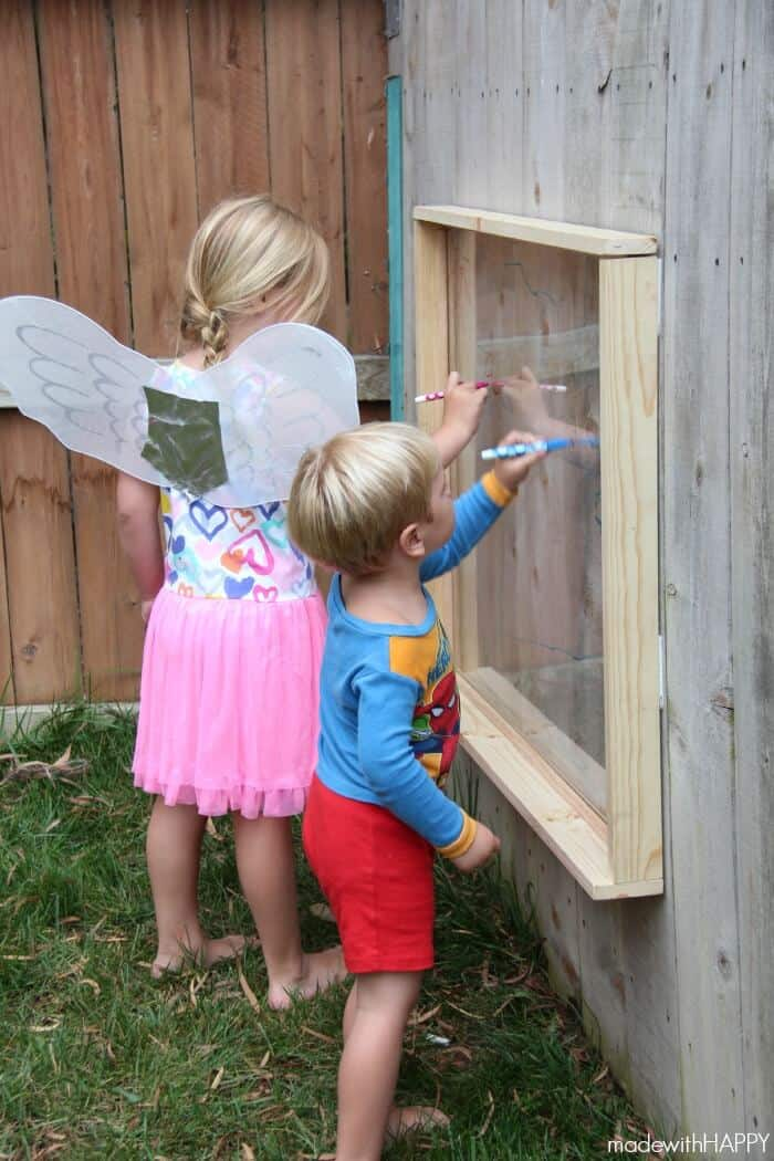outdoor playground perspex easel
