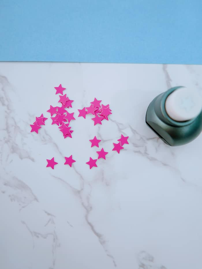paint sample punched stars