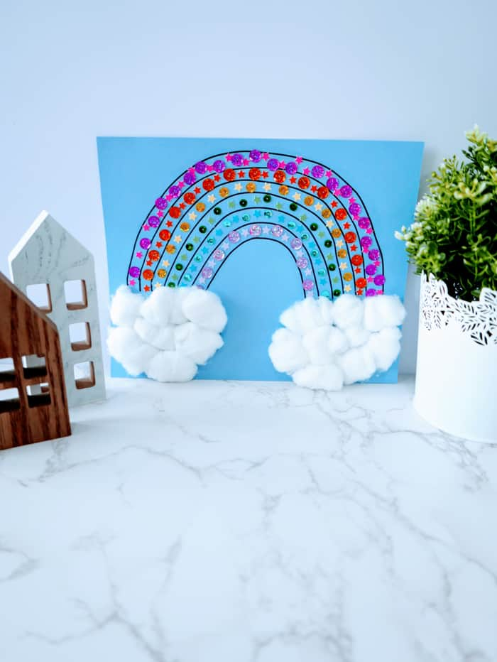 displaying your rainbow craft