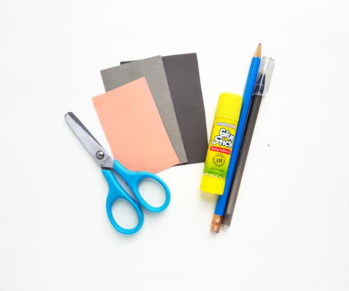 Supplies for paper puppet
