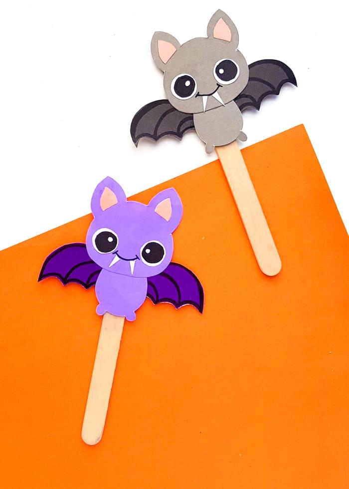 paper bat bookmark DIY
