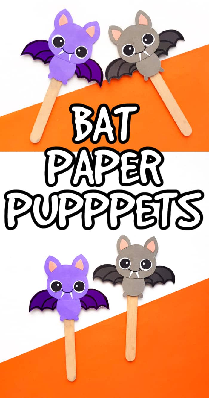 Bat Paper Puppets