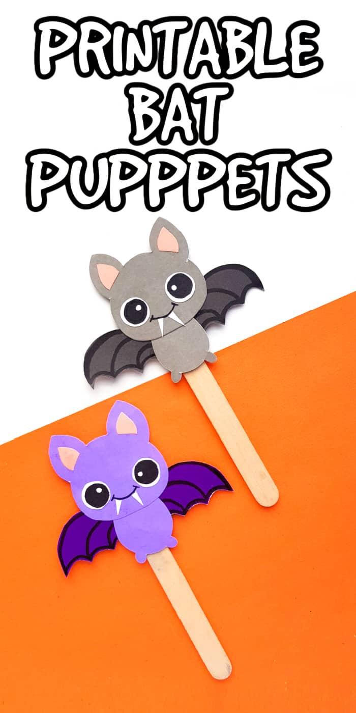 printable bat puppets