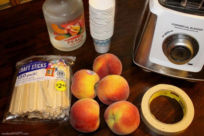 Boozy Peach Tea Popsicles   Boozy Peach Tea Popsicles   Peach Tea Cocktail Popsicles   www.madewithhappy.com