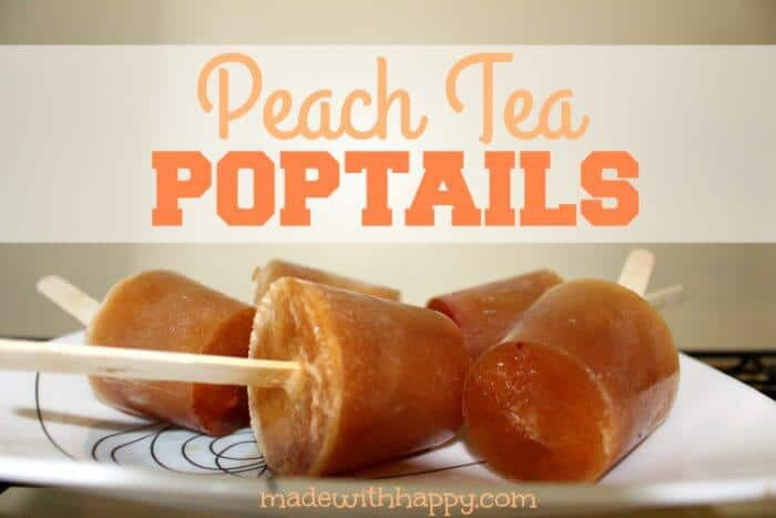 Boozy Peach Tea Popsicles | Boozy Peach Tea Popsicles | Peach Tea Cocktail Popsicles | www.madewithhappy.com