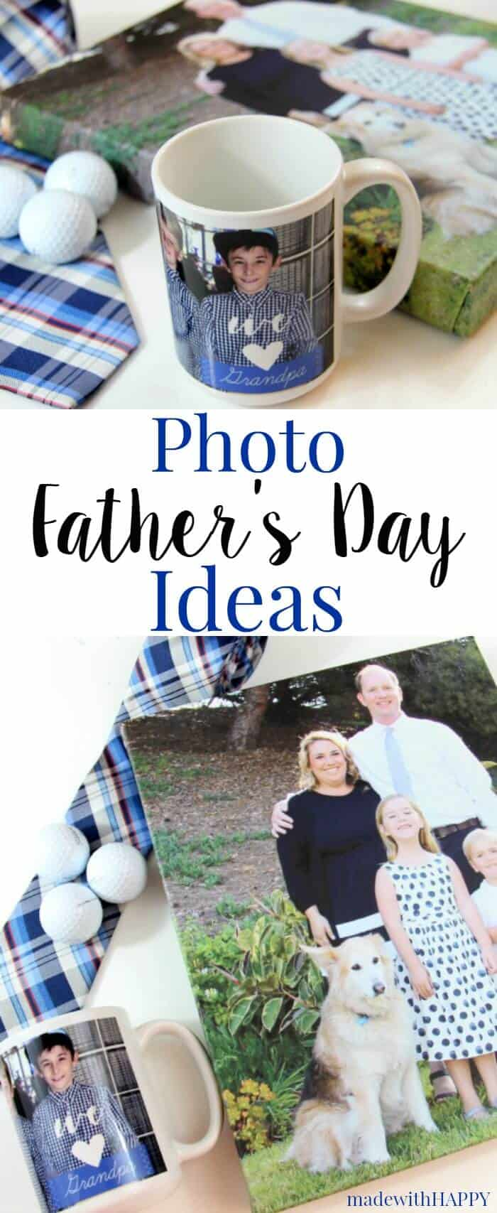 Father's Day Gift Ideas with personalization. Picture Gifts for father's day! | Printed Canvas | www.madewithHAPPY.com #snapfishbloggers #partner