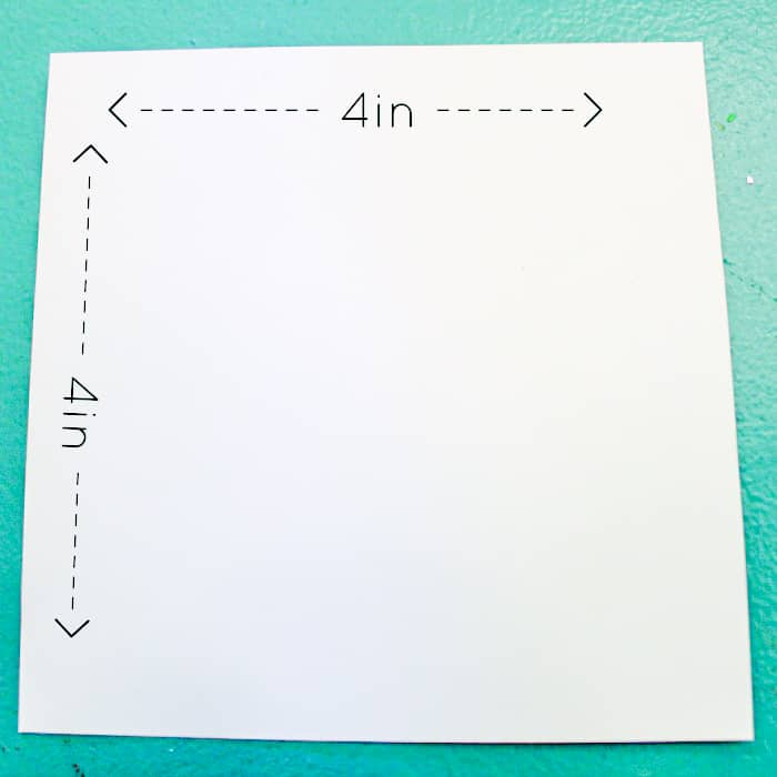 4 inch square paper
