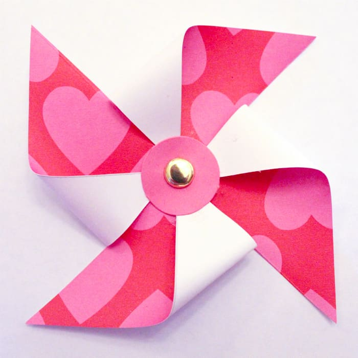 pinwheel portion of pinwheel diy