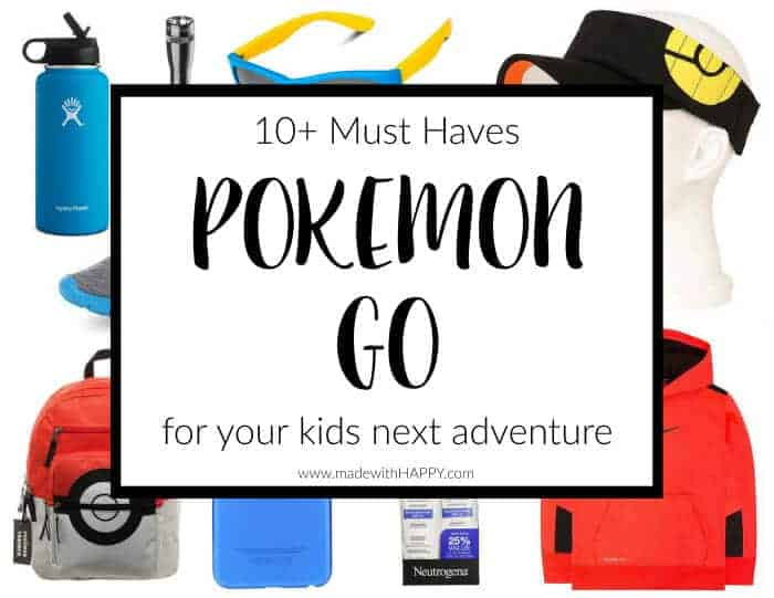 Pokemon Go for Kids | Pokemon Go Must Have | Items for your kids and their Pokemon Go | How to play Pokemon Go with your kids | All you need for Pokemon Go | www.madewithhappy.com