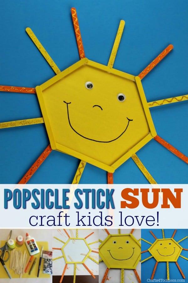 Popsicle Stick Smiley Sun
