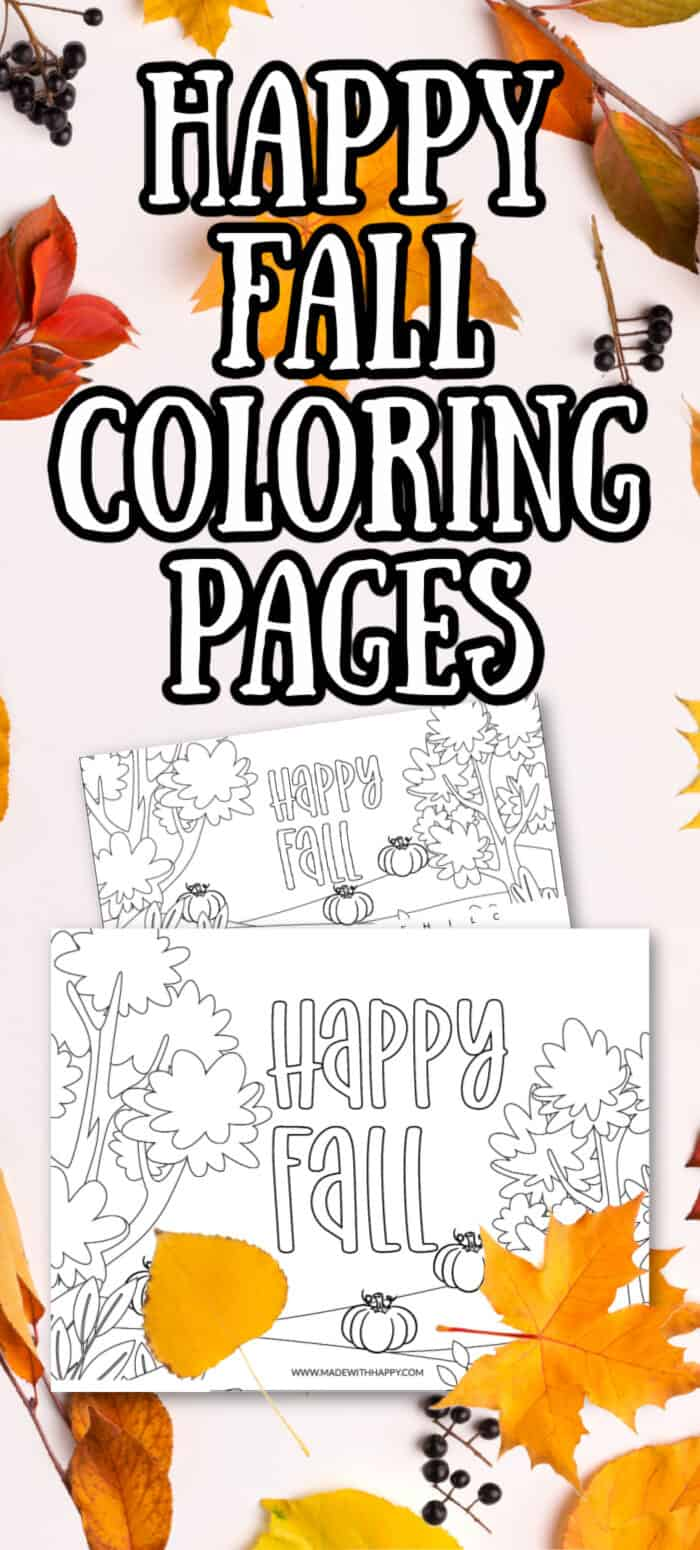 Happy Fall Kids Coloring