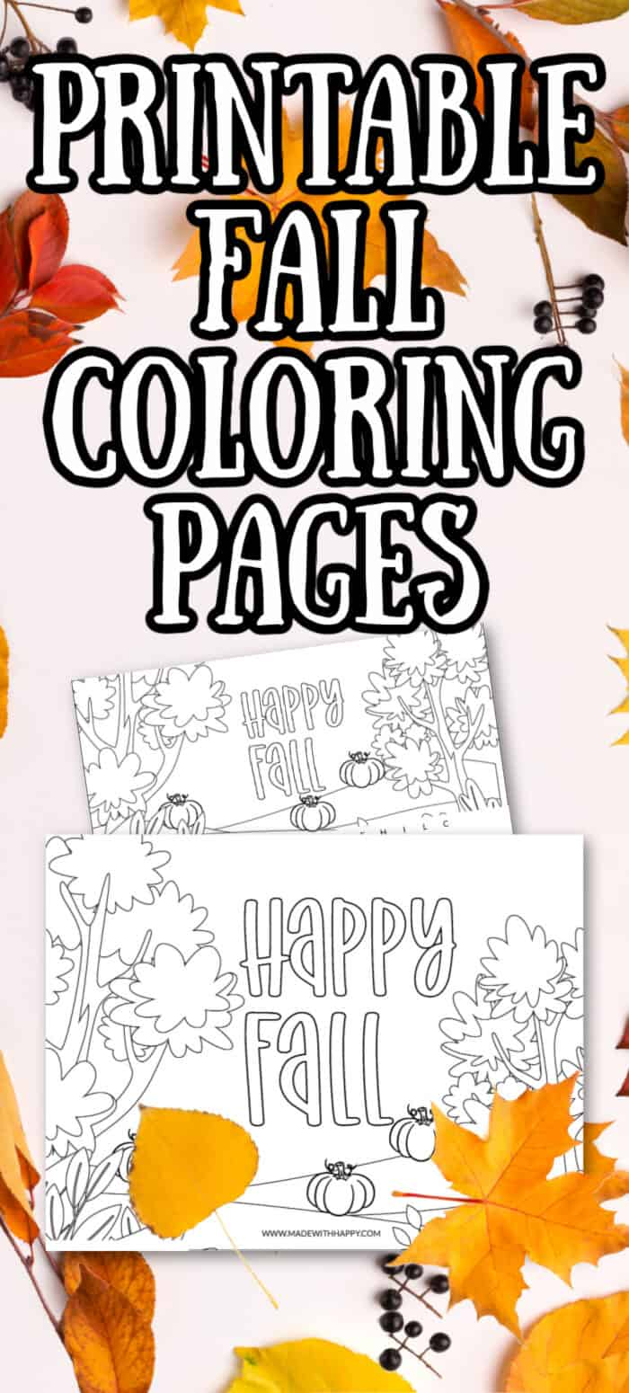 Printable Fall Coloring Sheets