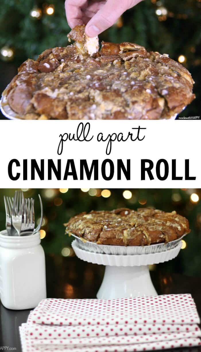 Pull Apart Cinnamon Roll | Kings Hawaiian Sweet Round Bread Cinnamon Rolls | Christmas Morning Breakfast | www.madewithHAPPY.com  #HostWithKH #ad