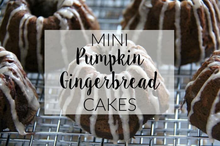 Mini Pumpkin Gingerbread Cakes | Pumpkin Desserts | Gingerbread Cake | Great recipe that blends all the flavors you love for FALL | Cinnamon Yogurt Icing | Pairs great with a Starbucks Pumpkin Spice Latte