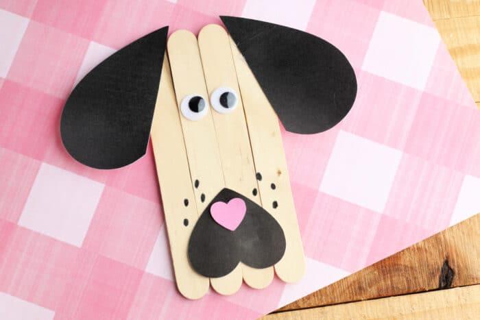 Craft Stick Puppy Dog