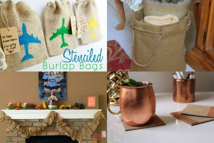 28 Burlap Projects | Burlap DIY Projects | Burlap Home Decor | Burlap DIY gifts | Burlap Outdoor Projects | Simple Burlap Crafts | www.madewithHAPPY.com