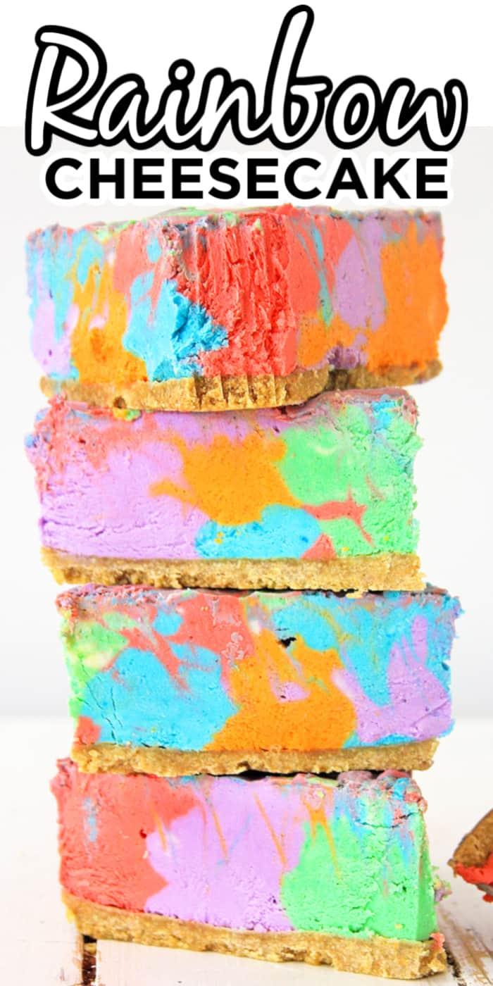 Unicorn Rainbow Cheesecake
