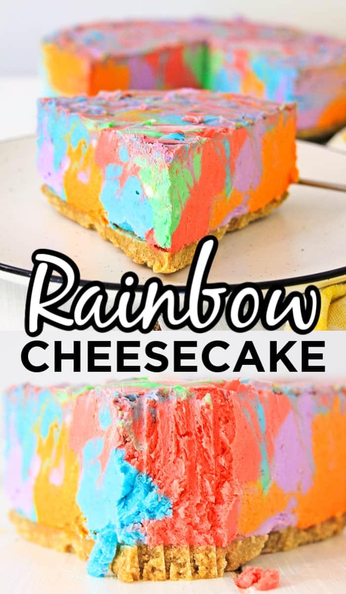 Rainbow Unicorn Cheesecake