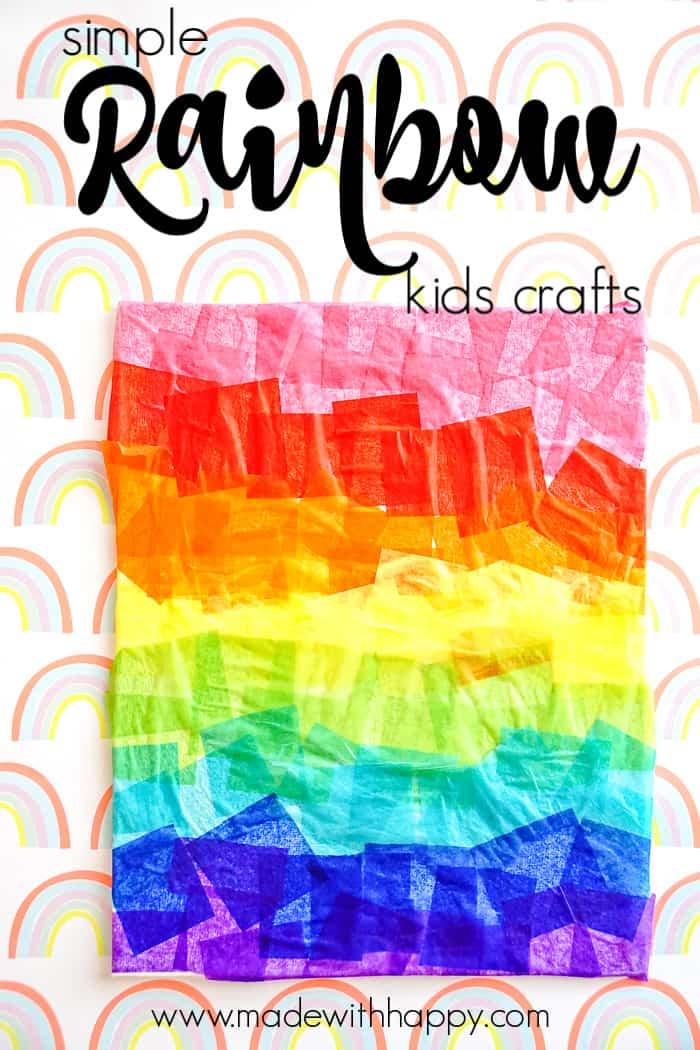 Simple Rainbow Kids Crafts