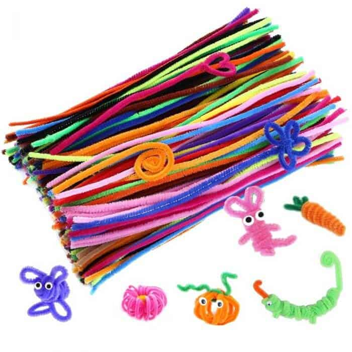 Rainbow Pipe Cleaners | Pipe Cleaner Crafts | Rainbow Craft Supplies | Colorful Kids Crafts | All the craft supplies you need to keep you and your kids occupied for hours and hours. | Rainbow Popsicles, Rainbow Cupcake Wrappers, Rainbow Pom poms and more | www.madewithhappy.com