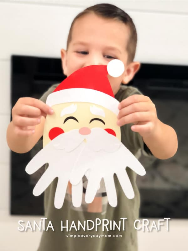 A Simple Santa Handprint Craft For Kids