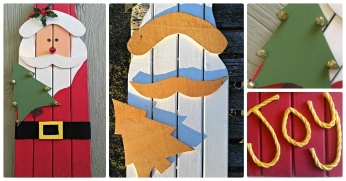 Santa Claus Wall Hanging – DIY Reclaimed Wood Santa Decoration