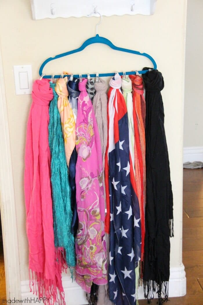 Scarf Organization Ideas