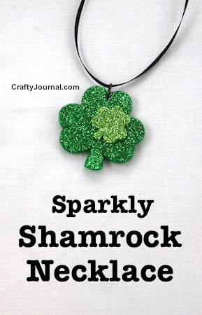 Sparkly Shamrock Necklace