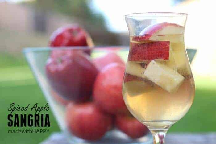 Spiced Apple Sangria | Fall Cocktail | www.madewithHAPPY.com