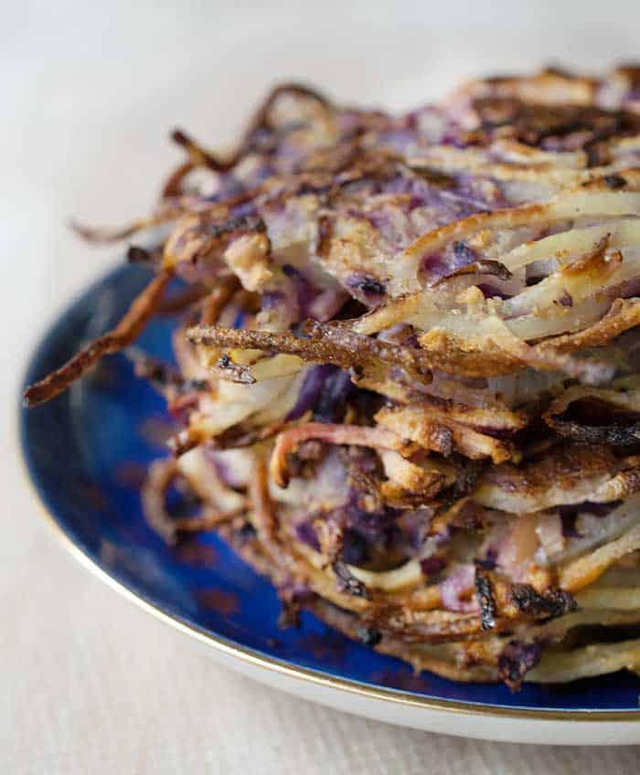Spiralized Potatoe Latkes