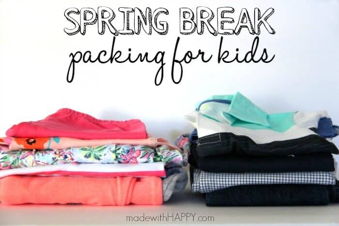 Spring Break Packing with Kids | Tips for traveling with kids this Spring | Packing Tips for travel | www.madewithHAPPY.com