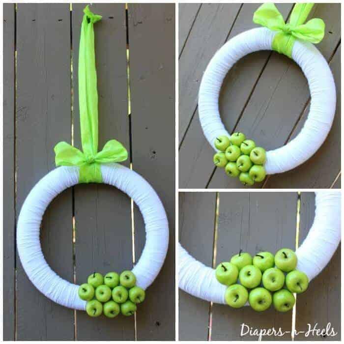 Spring Wreath - Green Apple Wreath - St. Patricks Day - Spring Decor - www.madewithHAPPY.com
