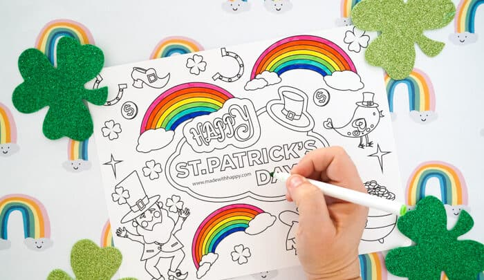 Free Rainbow Coloring Pages
