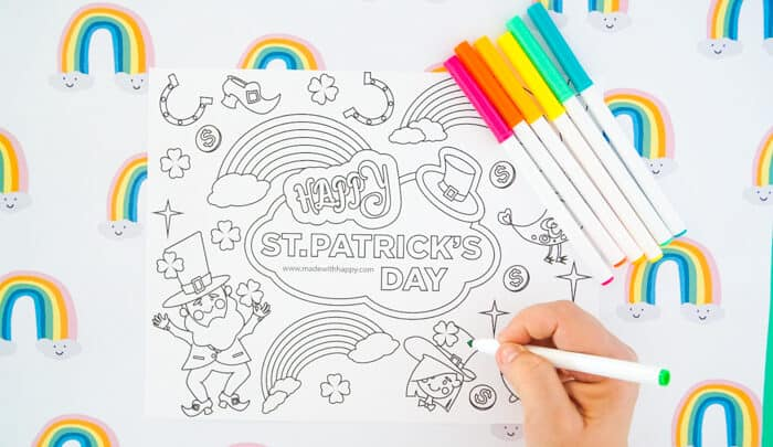 Printable St. Patrick's Day Coloring Page