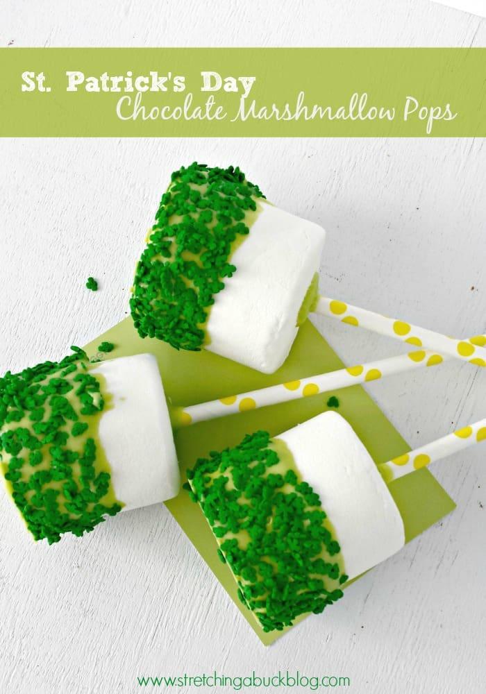 st. Patrick's day chocolate marshmallow pops recipe