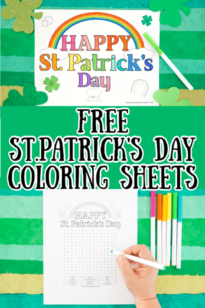 Happy St. Patrick's Day Coloring Sheets