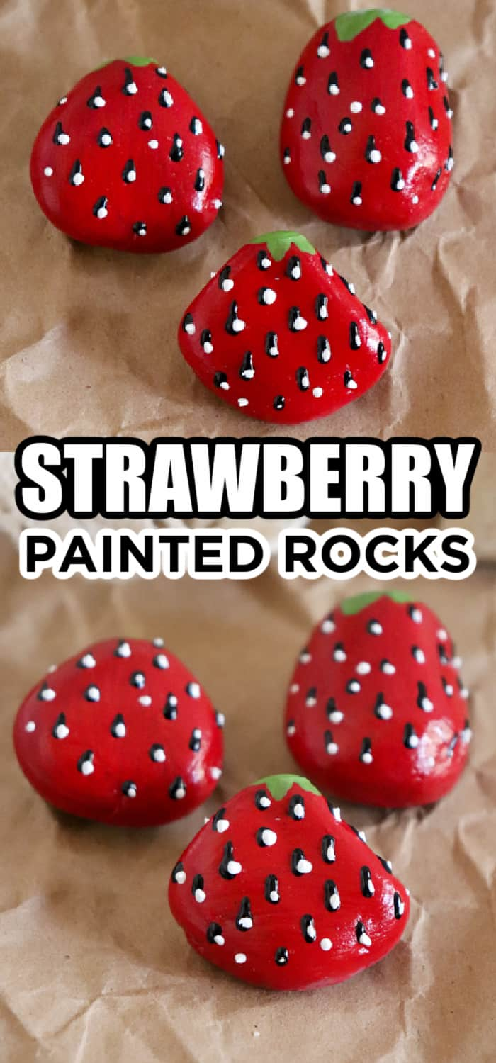 strawberry painting cute