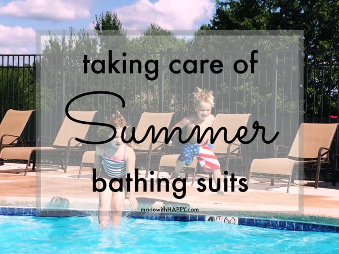 Three Tips to Saving your Summer Bathing Suit | How to save your bathing suit from Summer wear and tear | www.madewithHAPPY.com