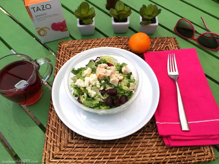 Greek Salad and Passion Tea | Back to School | Back to Work | www.madewithhappy.com